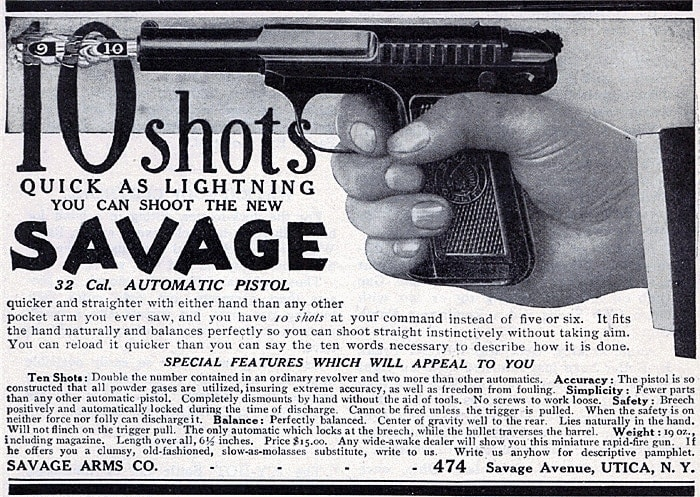 Advertisement for the Savage Model 1907