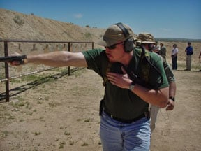 Tilting the gun towards your body is canted shooting.