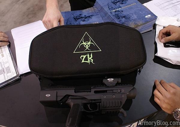sig sauer zombie killer next to carry bag