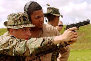 Rifle to sidearm pistol training.