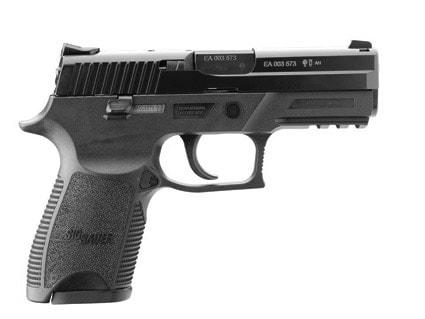 black sig sauer p250 handgun