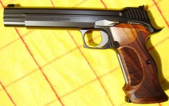 The Sig P210 Target pistol.