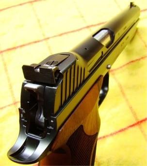 The Sig P210 Target sights.