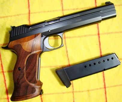 The Sig P210 Target with a magazine.
