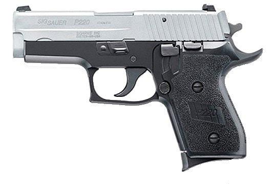 sig sauer p250 handgun on white background