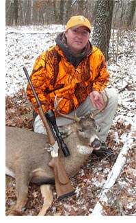 Hunting rifle.