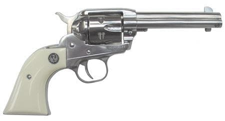 ruger single action revolver with white grip
