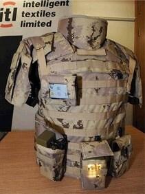 British uniform with e-textiles woven into the fabric.