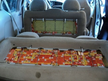 ammo smuggled in car seats