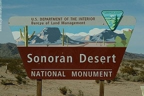 A Sign of the Sonoran Desert National Monument