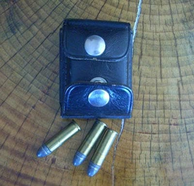 Revolver dump pouch.