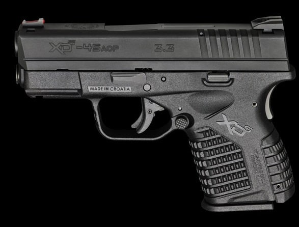 Springfield XDs 3.3 single stack .45 caliber pistol.