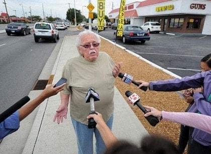 Don Davis of Don's Guns giving an interview.