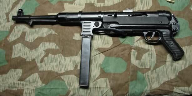 The SSR MP40 on a camo sheet.