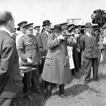 winston churchill shooting gun