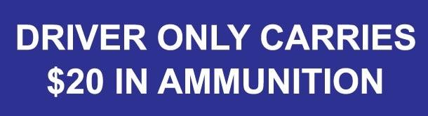 Ammunition bumper sticker