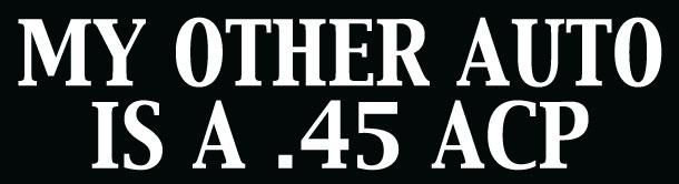 .45 bumper sticker