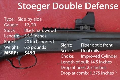 The Stoeger Double Defense specs.