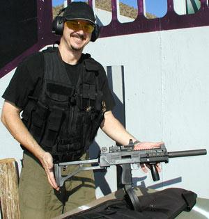 man wearing tactical reloading vest