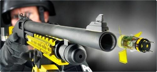 rifle shooting taser round