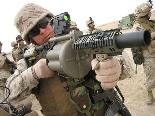us military shooting taser grenade