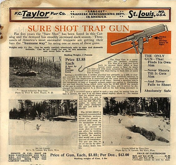 Sure shot trap gun ad