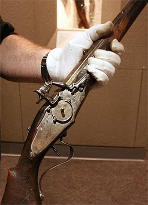 The Mayflower Gun is currently on display at the NRA Museum.