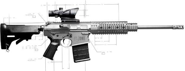 NEMO Arms [Ti]ONE AR-10 rifle