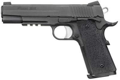sig 1911 handgun on white background