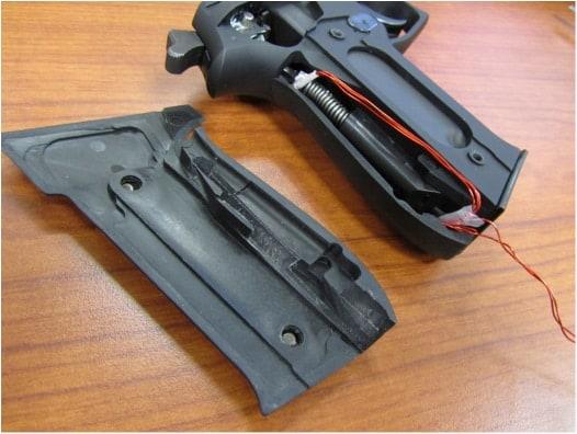 A TriggerSmart installed in a SIG pistol