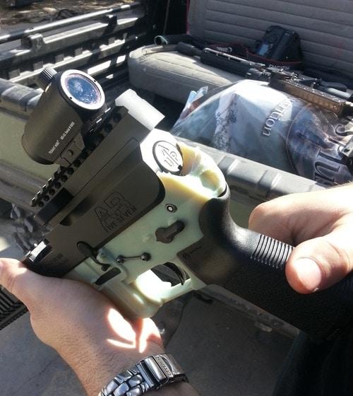 Broken Wiki Weapon AR-15 lower receiver