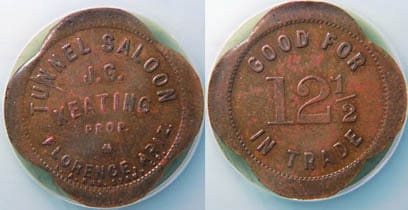 saloon coins antique
