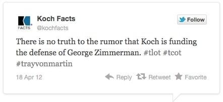 Koch Facts tweet