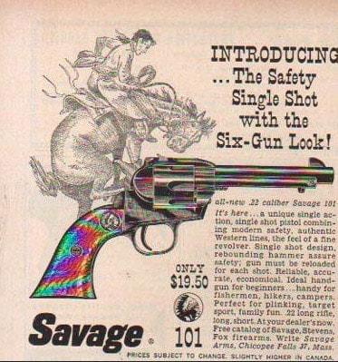 The Savage 101 advertisement