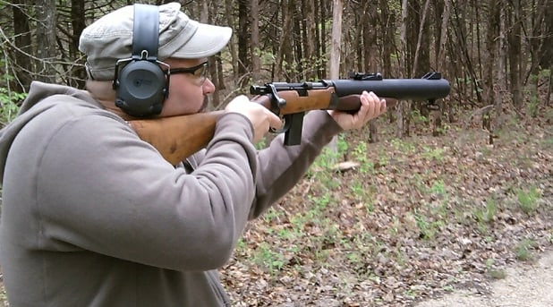 A gentleman shooting the Valkyrie Arms Commando.