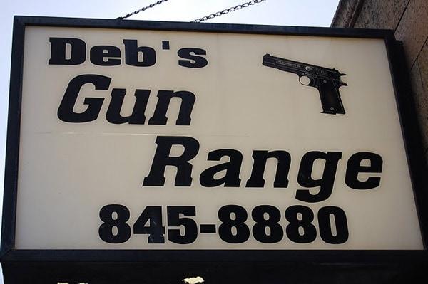 debs gun range sign
