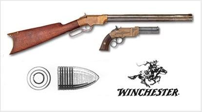 volcanic rifle and handgun