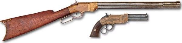 similar handgun and rifle