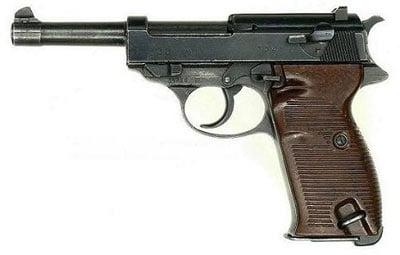 Nazi general Erwin Rommel gun
