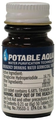 Water purification tablets.