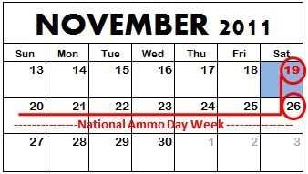 national ammo week calendar