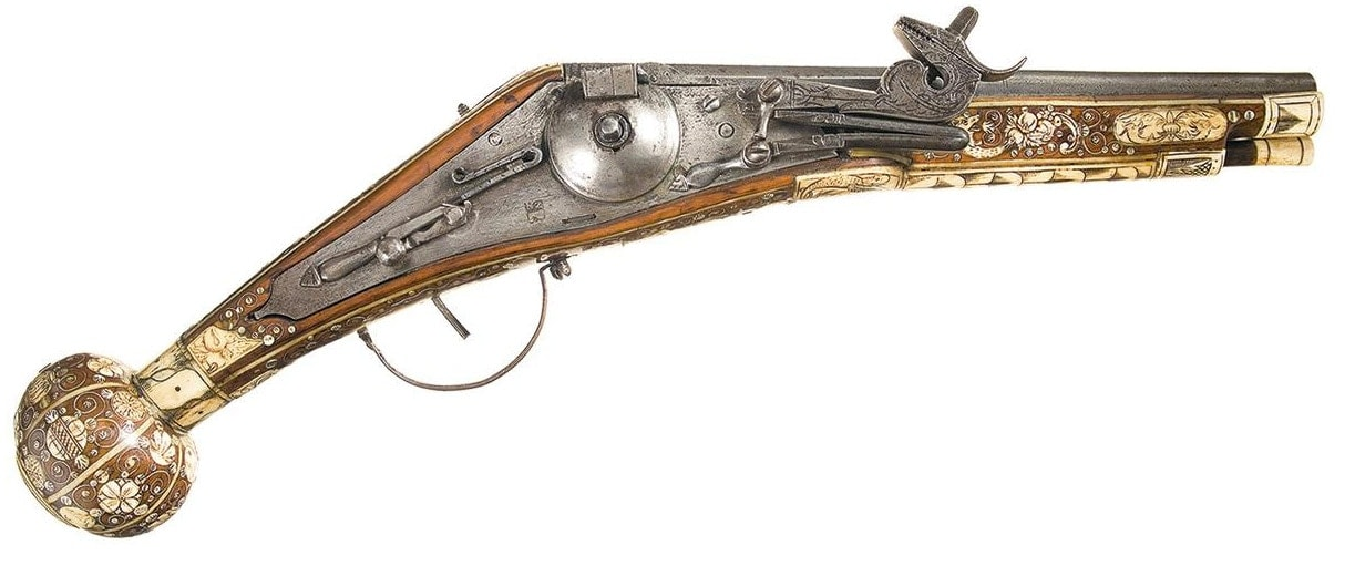 three wheel-lock pistol
