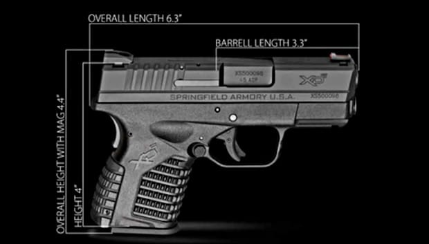 Springfield XDS .45 stats