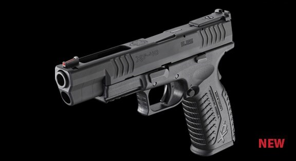 springfield xdm pistol on black background