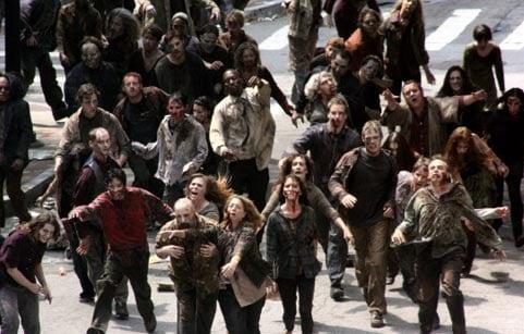 walking dead crowd of zombies