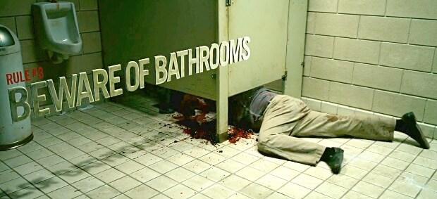 beware of bathrooms zombie
