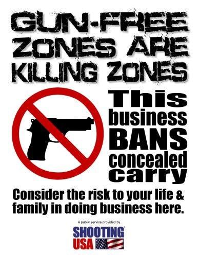 Gun Free Zone Flier