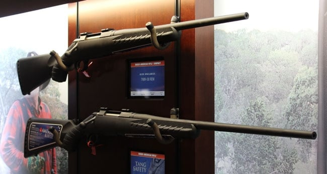 ruger american rifles in case at shot show 2013