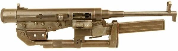 Hotchkiss submachine gun folded