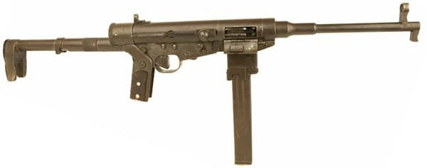 Hotchkiss submachine gun unfolded.